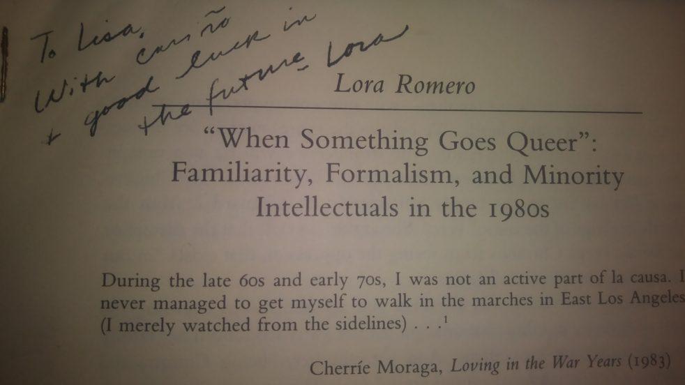 handwritten note by Romero